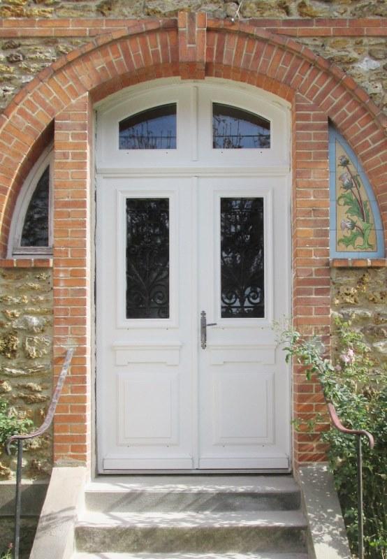 Porte double semi-vitrée