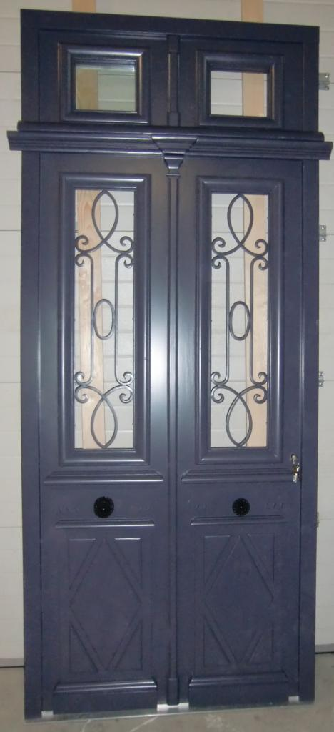 Copie porte d entr e ancienne en isolante - Porte d entree double ...