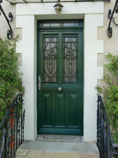 Copie d 39 une porte d 39 entr e 1900 avec imposte en porte isolante - Porte d entree anti effraction ...